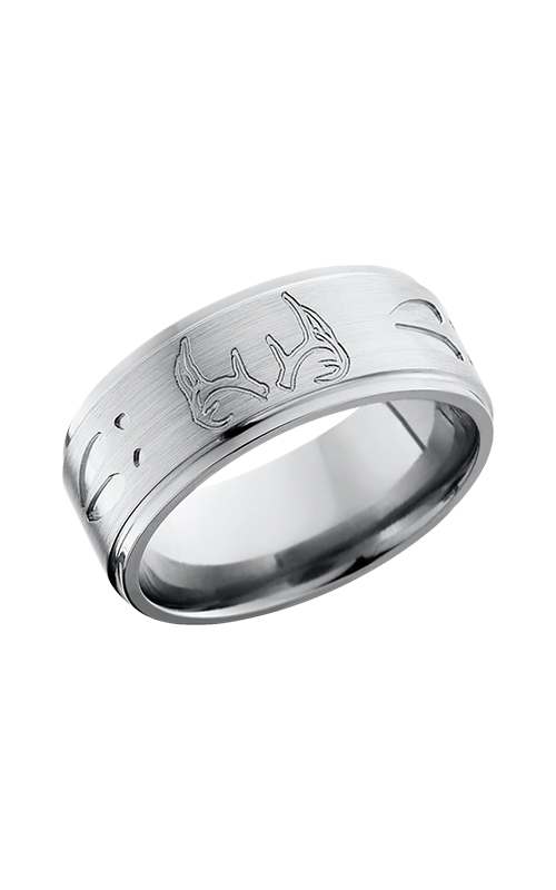 Lashbrook Titanium Wedding band 9FGEDEERTRACK SATIN POLISH product image