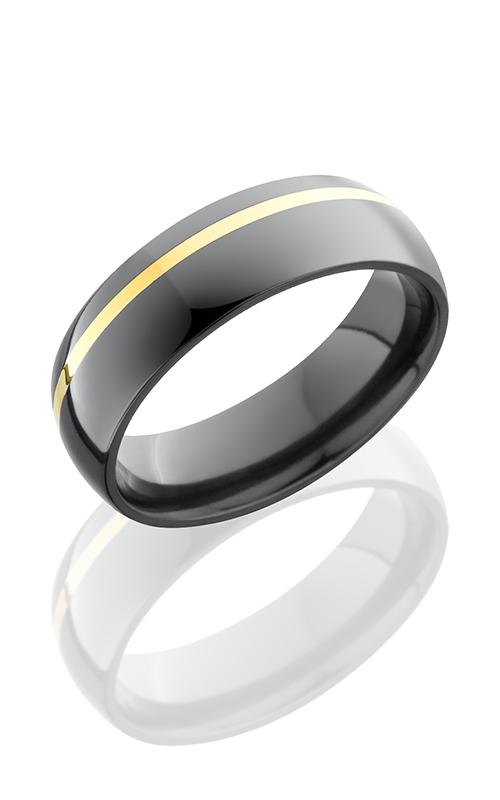 Lashbrook Zirconium Wedding band Z6D11OC-14KY BEADBLAST product image