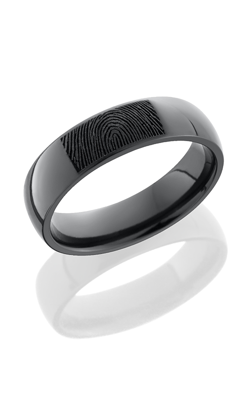 Lashbrook Zirconium Wedding band Z6D BLCVFINGERPRINT POLISH product image
