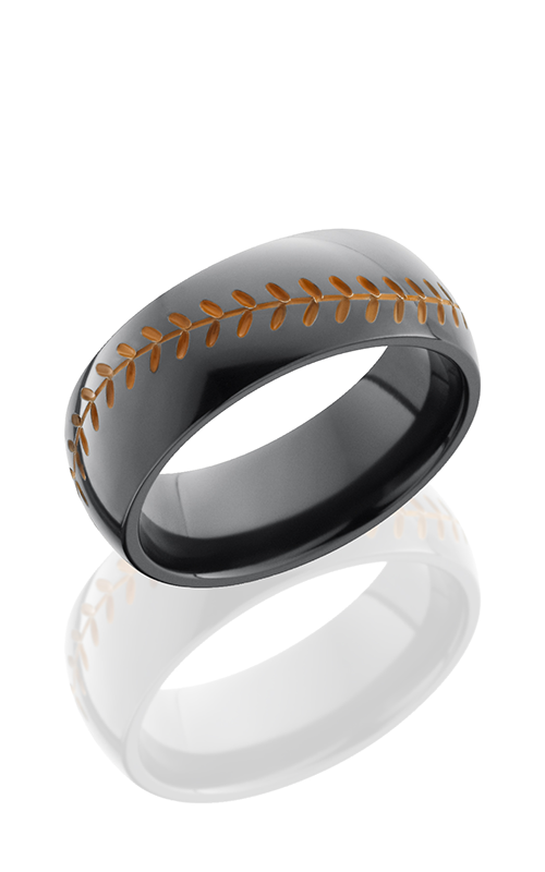 Lashbrook Zirconium Wedding band Z8D-BASEBALLA ORANGE ANT product image