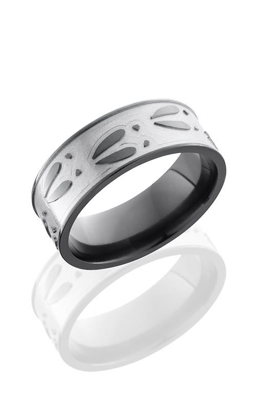 Lashbrook Zirconium Wedding band Z8F-DEERU BEAD-POLISH product image