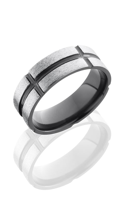 Lashbrook Zirconium Wedding band Z8F11V5SEG SILVER STONE-POLISH product image