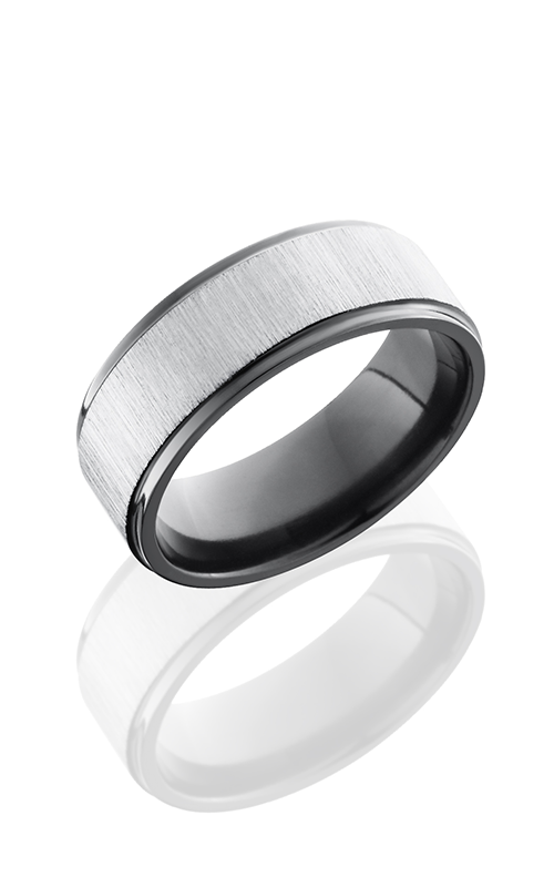 Lashbrook Zirconium Wedding band Z8FGE CROSS SATIN product image