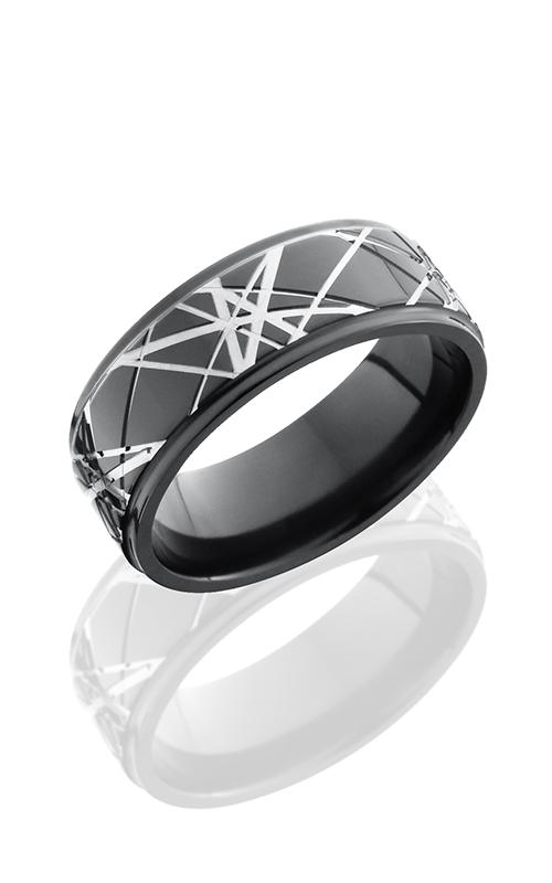 Lashbrook Zirconium Wedding band Z8FGE-RETRO POLISH product image