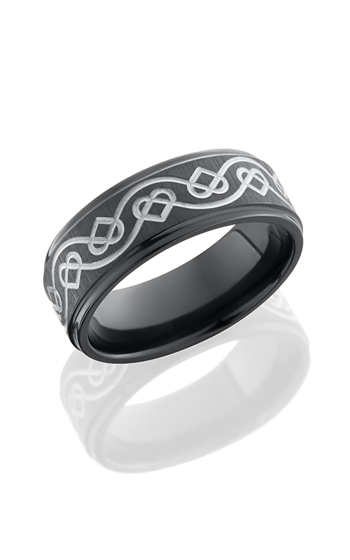Lashbrook Zirconium Wedding band Z8FGECELTICHEARTCROSS SB product image