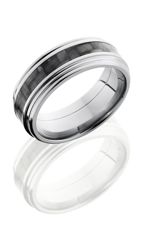 Lashbrook Carbon Fiber Wedding Band C8REF13 CF POLISH Product Image