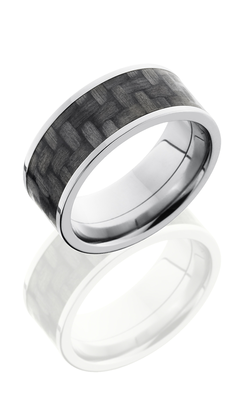 Lashbrook Carbon Fiber Wedding band C9F17 CF POLISH product image
