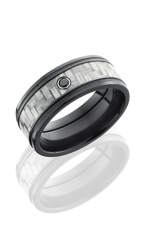 Lashbrook Carbon Fiber Wedding band ZC8FGEW2MIL14 SILVER product image