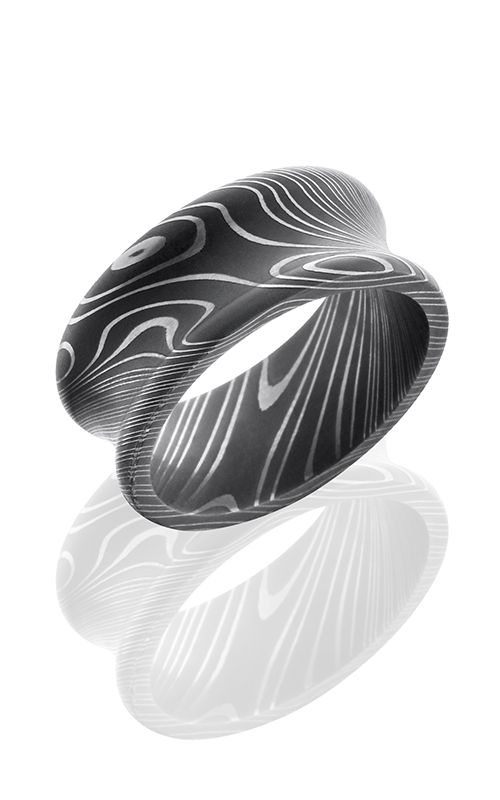 Lashbrook Damascus Steel Wedding band D10CR ACID product image