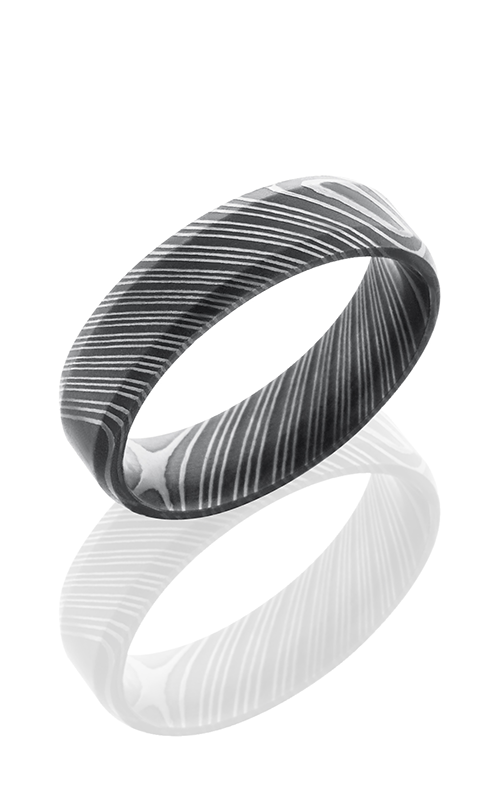 Lashbrook Damascus Steel Wedding band D6B ACID product image