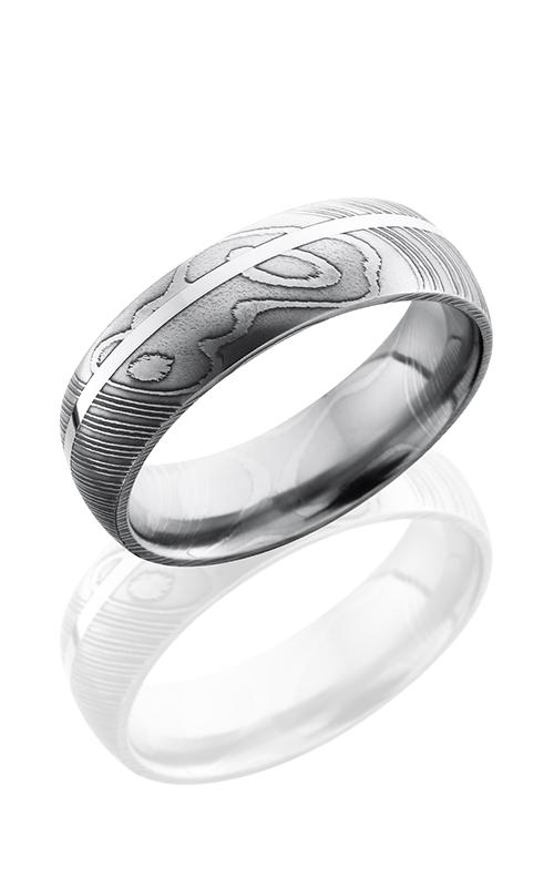 Lashbrook Damascus Steel Wedding band D7D11OC-SS POLISH product image