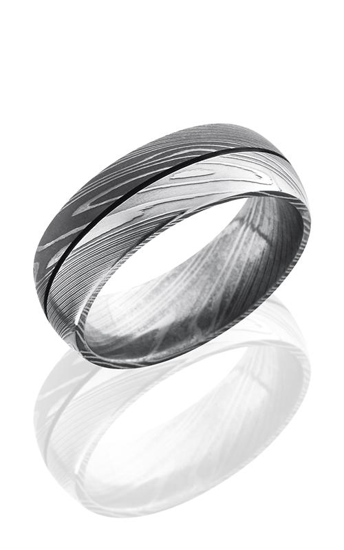 Lashbrook Damascus Steel Wedding band D8D1.5 POLISH-ACID product image