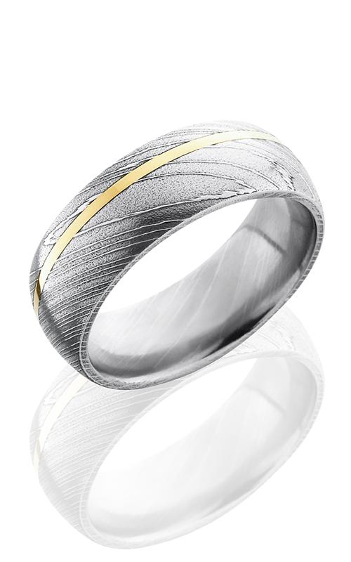 Lashbrook Damascus Steel Wedding band D8D11OC-14KY POLISH product image