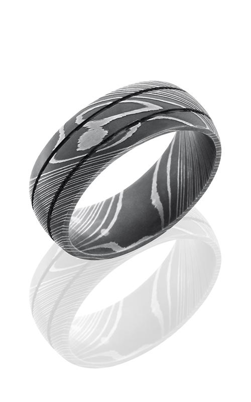 Lashbrook Damascus Steel Wedding band D8D2.5 ACID product image