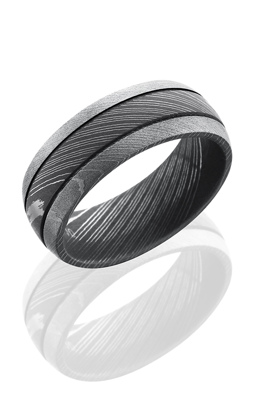 Lashbrook Damascus Steel Wedding band D8D2.5 ACID-BEAD product image
