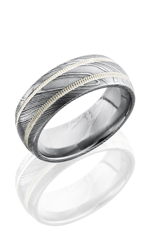 Lashbrook Damascus Steel Wedding band D8D21-SS2MIL POLISH product image
