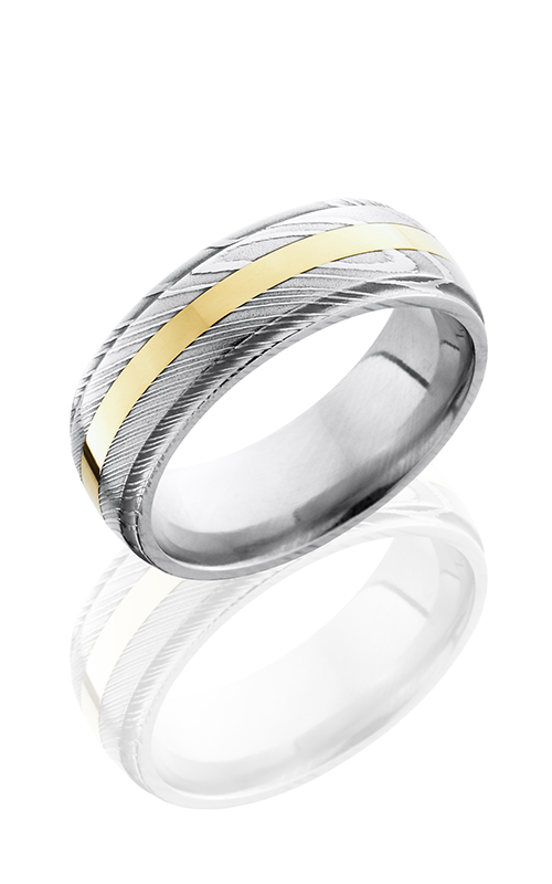 Lashbrook Damascus Steel Wedding band D8DGE12-14KY POLISH product image