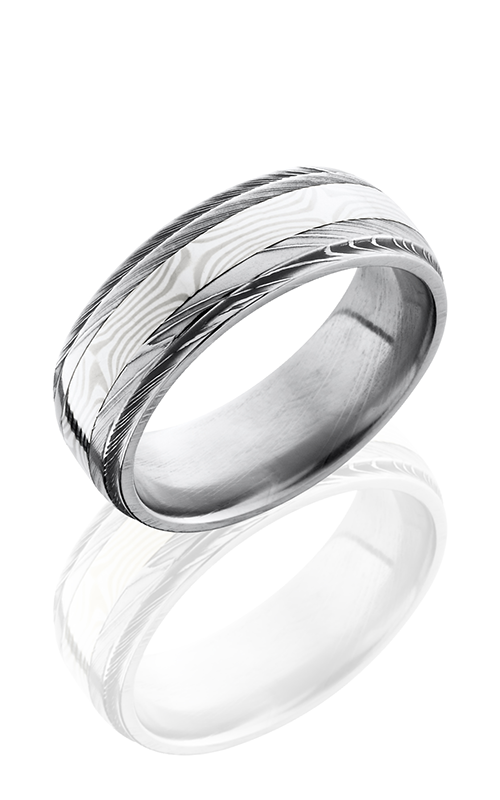 Lashbrook Damascus Steel Wedding band D8DGE13-MSSPD POLISH product image