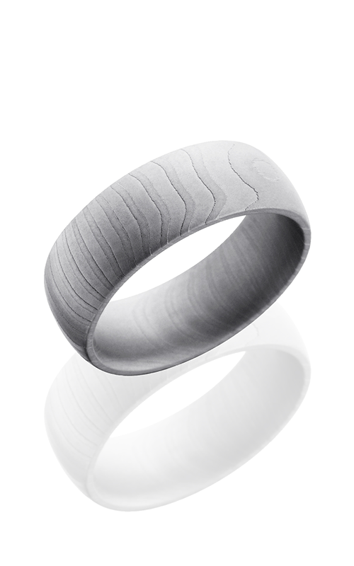Lashbrook Damascus Steel Wedding band D8DTIGER BEAD product image