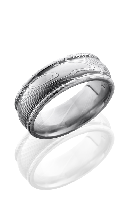 Lashbrook Damascus Steel Wedding band D8RED POLISH product image