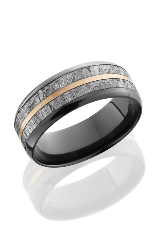 Lashbrook Meteorite Wedding band Z8B15 METEORITE11 14KR POLISH product image
