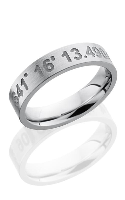 Lashbrook Cobalt Chrome Wedding band CC5FCOORDINATES SAND-SATIN product image