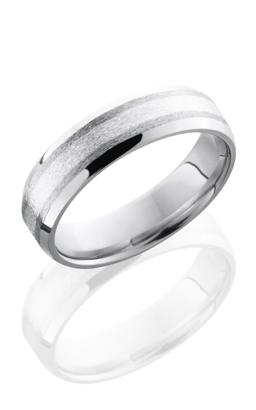 Lashbrook Cobalt Chrome Wedding band CC6B12-SS NS STONE-POLISH product image