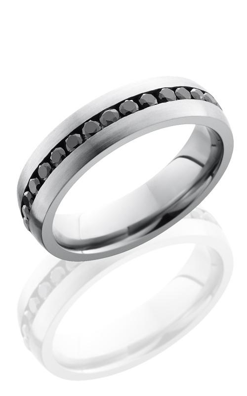 Lashbrook Cobalt Chrome Wedding band CC6DETERNITYBLKDIA.04 SATIN product image