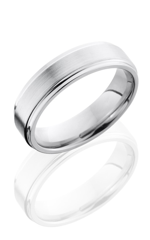 Lashbrook Cobalt Chrome Wedding band CC6FGE SATIN-POLISH product image