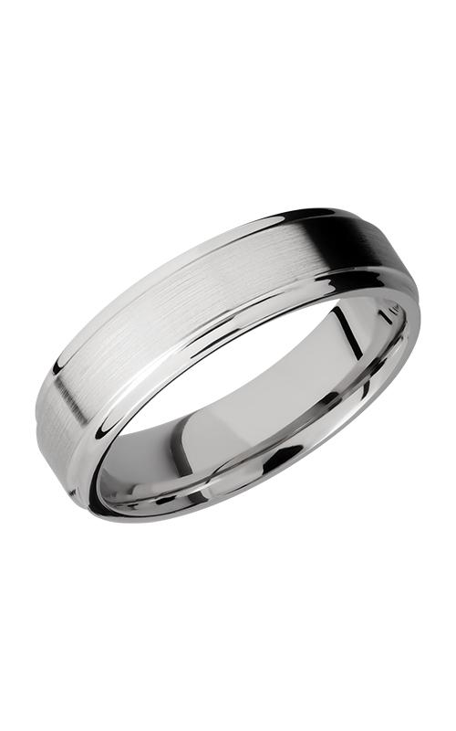 Lashbrook Cobalt Chrome Wedding band CC6FGE SATIN-POLISH product image