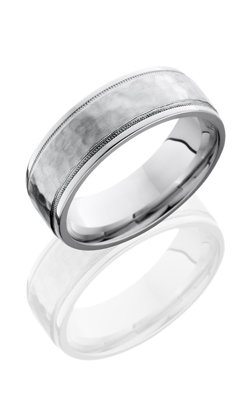 Lashbrook Cobalt Chrome Wedding band C7.5FGEW2UMIL HAMMER-POLISH product image