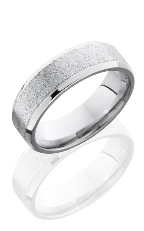Lashbrook Cobalt Chrome Wedding band CC7B STONE-POLISH product image