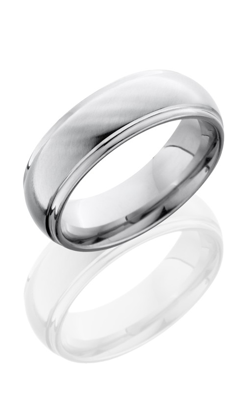 Lashbrook Cobalt Chrome Wedding band CC7DGE ANGLE SATIN-POLISH product image
