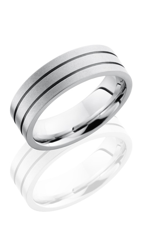 Lashbrook Cobalt Chrome Wedding band CC7F2.5 BEADBLAST product image
