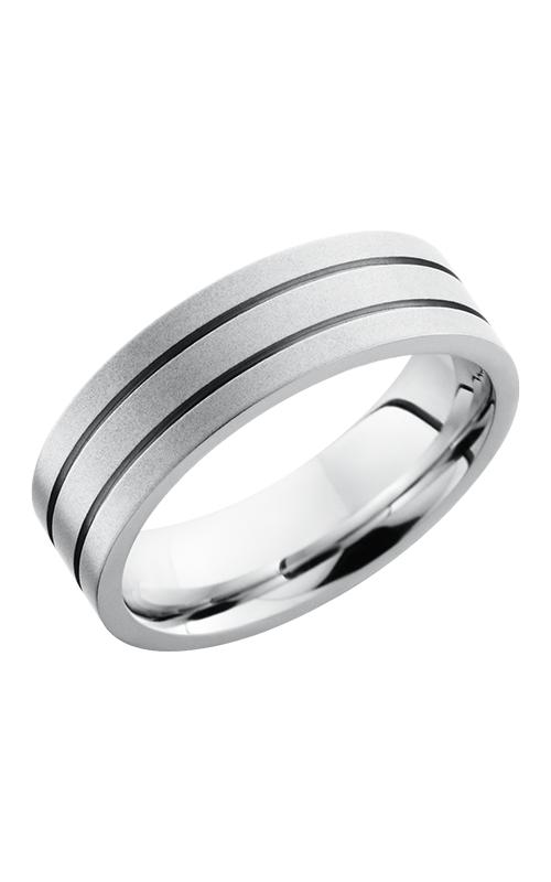 Lashbrook Cobalt Chrome Wedding band CC7F2.5 BEADBLAST product image