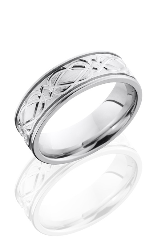 Lashbrook Cobalt Chrome Wedding band CC7F2.5CELTICWEAVE POLISH product image