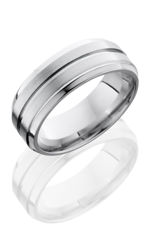 Lashbrook Cobalt Chrome Wedding band CC8B11 SATIN-POLISH product image