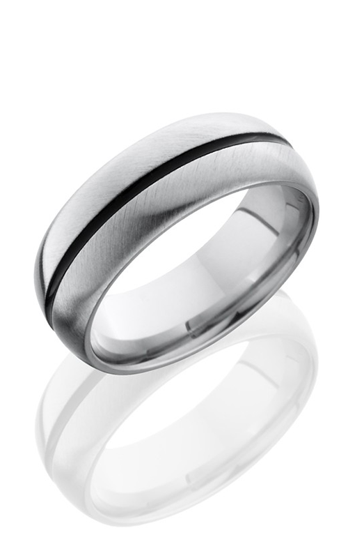 Lashbrook Cobalt Chrome Wedding band CC8D11A DOUBLE ANGLE-SATIN product image