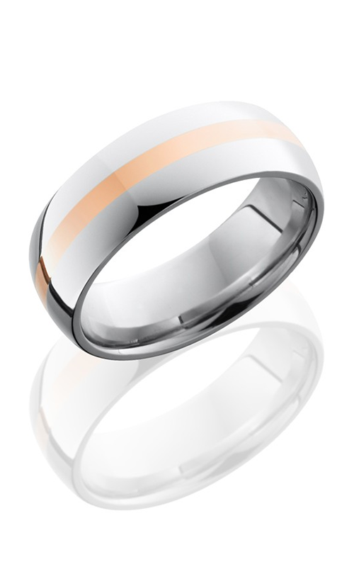 Lashbrook Cobalt Chrome Wedding band CC8D12-14KR POLISH product image