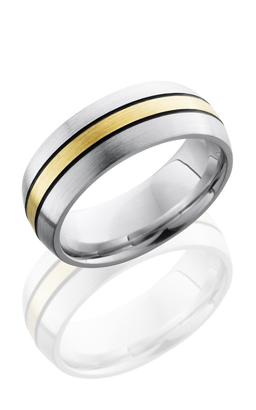 Lashbrook Cobalt Chrome Wedding band CC8D12-14KYMGA SATIN product image
