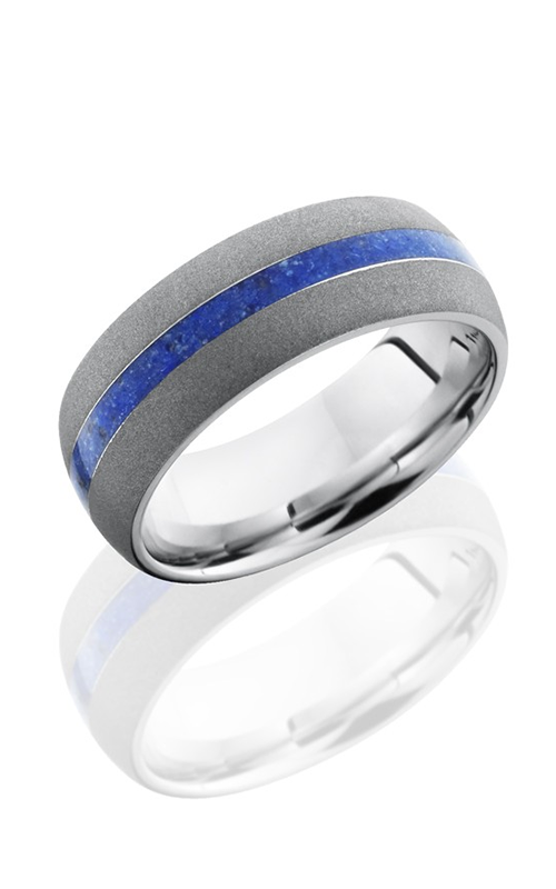 Lashbrook Cobalt Chrome Wedding band CC8D12-LAPIS SANDBLAST product image