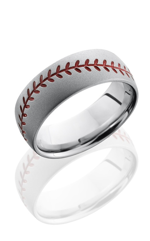 Lashbrook Cobalt Chrome Wedding band CC8DBASEBALLA BEADBLAST product image