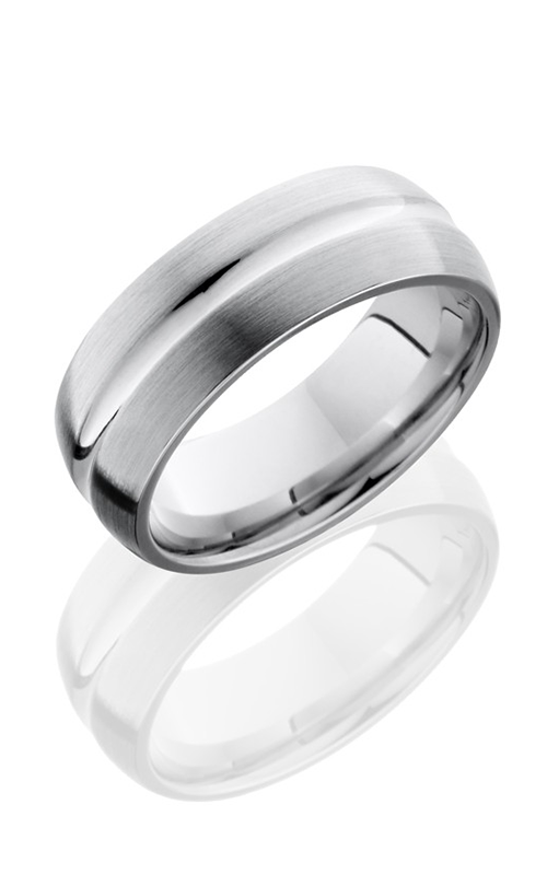 Lashbrook Cobalt Chrome Wedding band CC8DC POLISH-SATIN product image