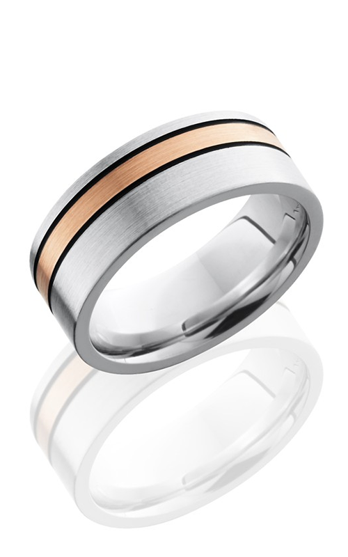 Lashbrook Cobalt Chrome Wedding band CC8F12OC-14KRMGA SATIN product image