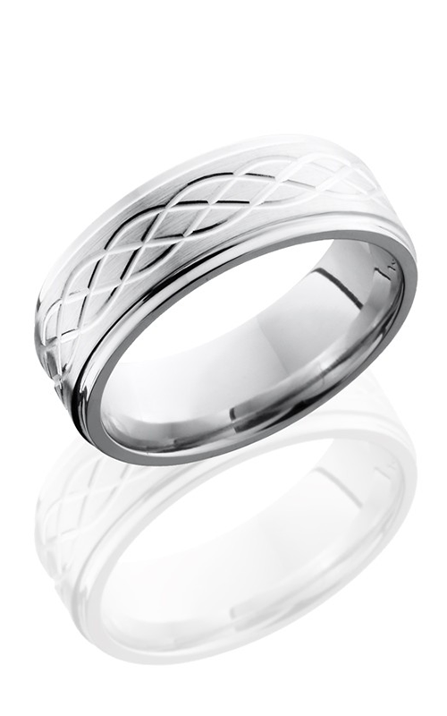 Lashbrook Cobalt Chrome Wedding band CC8FGECELTIC6 SATIN-POLISH product image