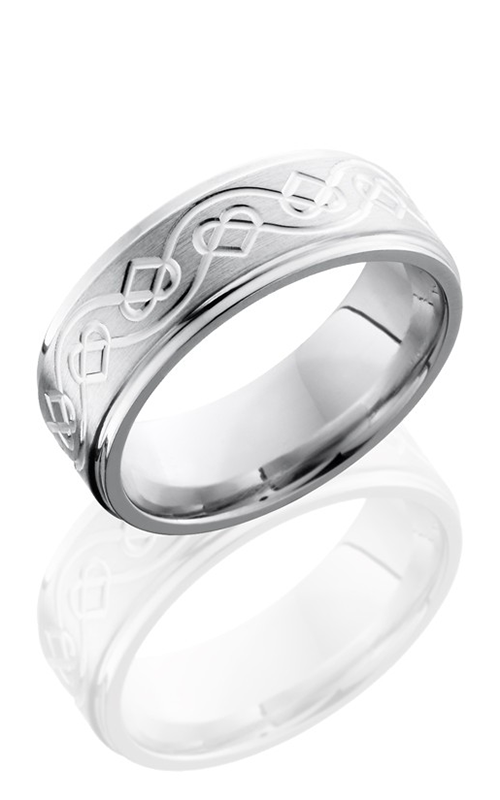 Lashbrook Cobalt Chrome Wedding band CC8FGECELTICHEART SATIN-POLISH product image