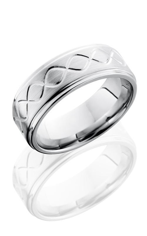 Lashbrook Cobalt Chrome Wedding band CC8FGETALLINF SATIN-POLISH product image