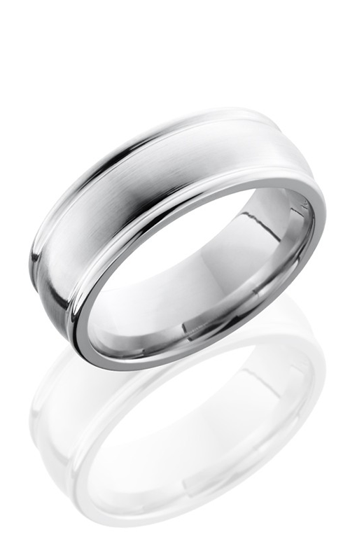 Lashbrook Cobalt Chrome Wedding band CC8RED SATIN-POLISH product image