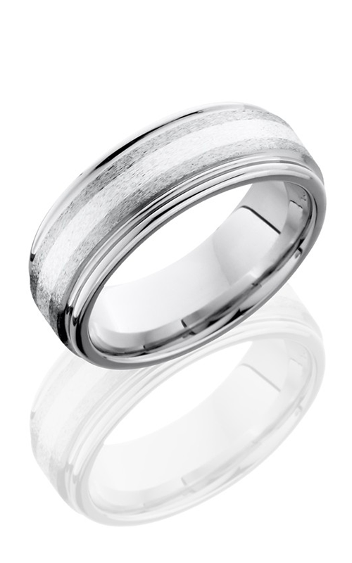 Lashbrook Cobalt Chrome Wedding band CC8REF12-SS STONE-POLISH product image