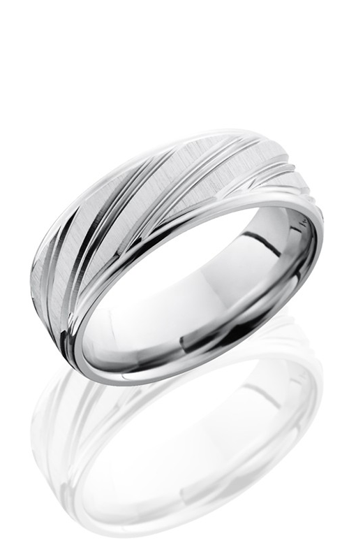Lashbrook Cobalt Chrome Wedding band CC8REFDBSTRIPE CROSS SATIN product image